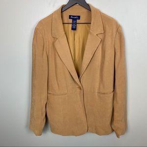 Denim&Co.Blazer/tan/ Size XL